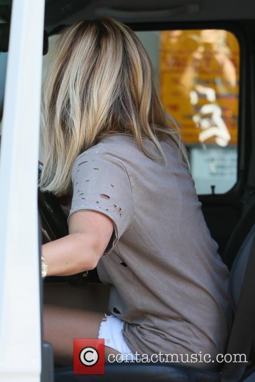 Ashley Tisdale seen leaving Nine Zero One Salon.