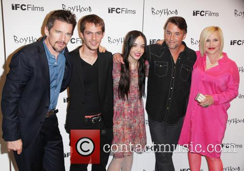 Ethan Hawke, Ellar Coltrane, Lorelei Linklater, Richard Linklater and Patricia Arquette 2