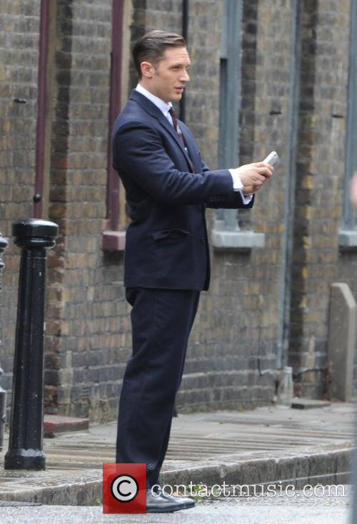 Tom Hardy  Filming Legend in London