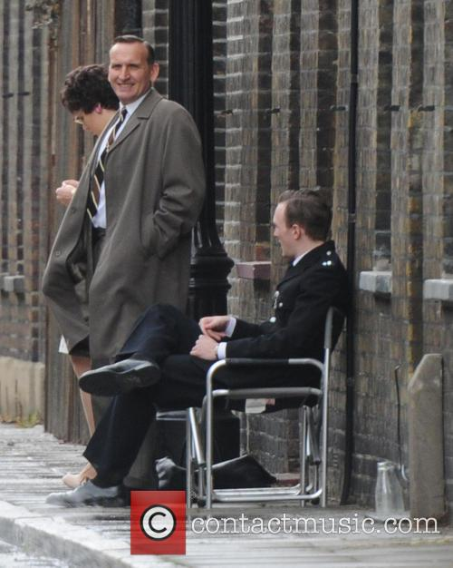 Tom Hardy filming on the set of his...