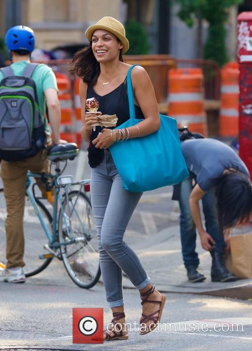 Rosario Dawson out and about