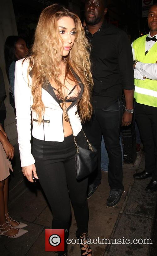 Celebrities at DSTRKT nightclub in London