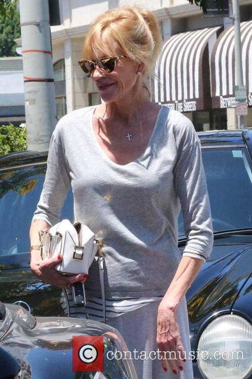 Melanie Griffith leaves Petrossian Restaurant & Boutique