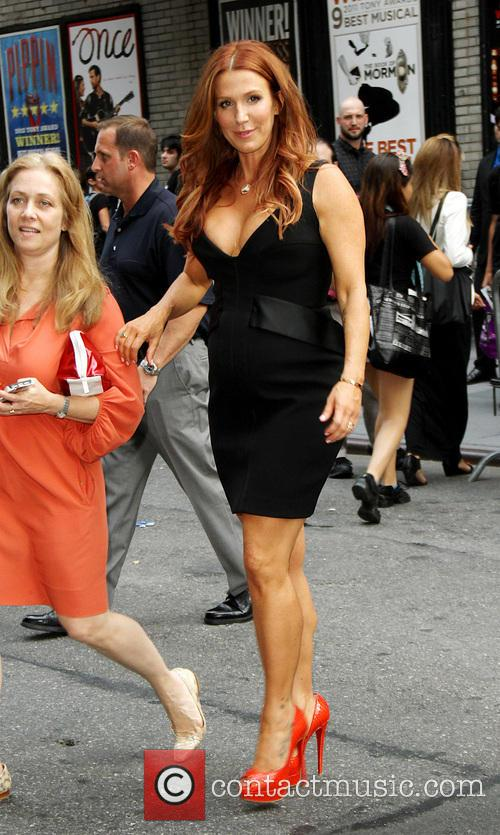 Celebrities outside The Ed Sullivan Theater for The...