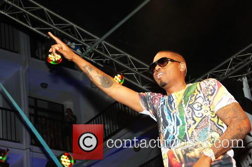 Rapper Nas performing at Ibiza Rocks Hotel