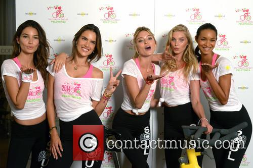 Victoria's Secret Angels at Soul Cycle