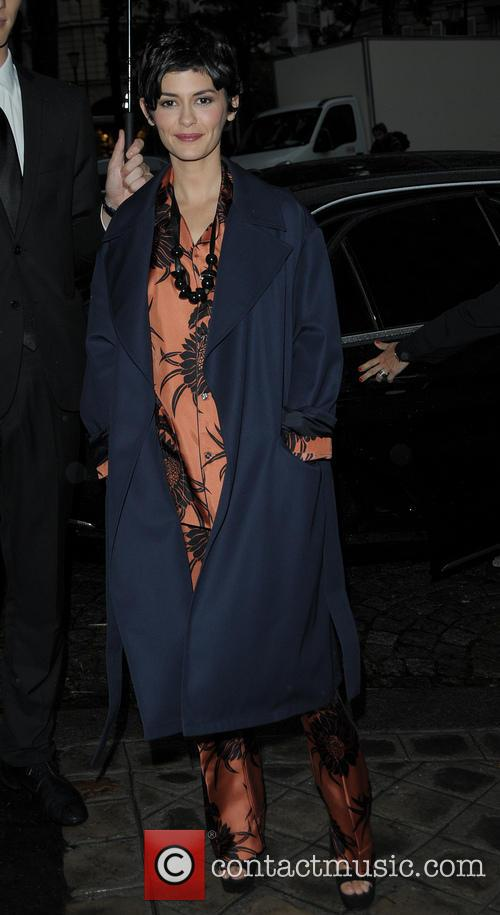 Audrey Tautou arriving at the Vogue party
