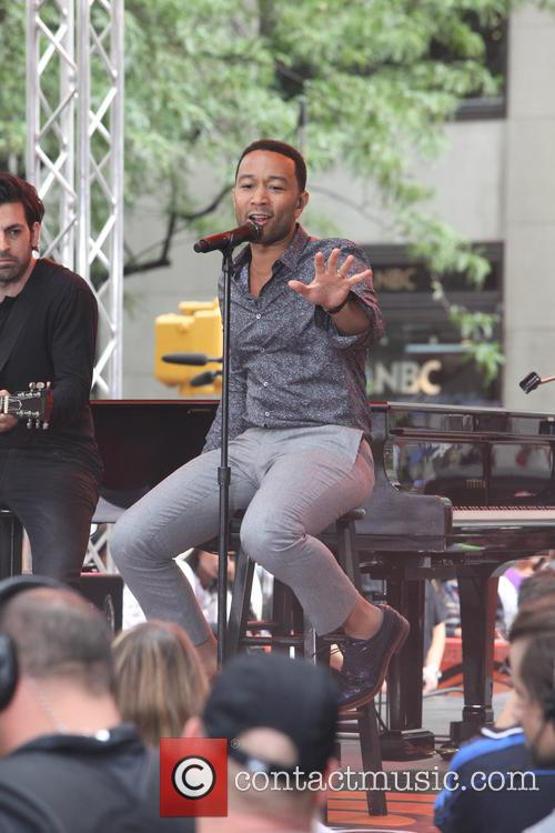 John Legend performing live