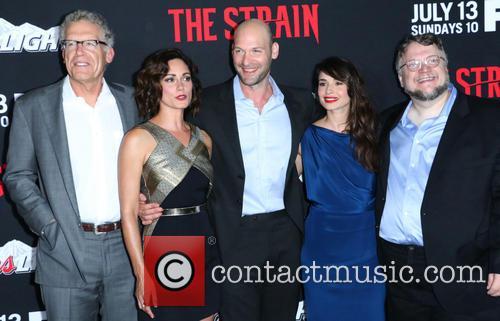 Carlton Cuse, Natalie Brown, Corey Stoll, Mia Maestro and Guillermo Del Toro 2