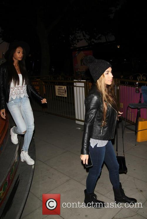 Chantel Jeffries at the fairground