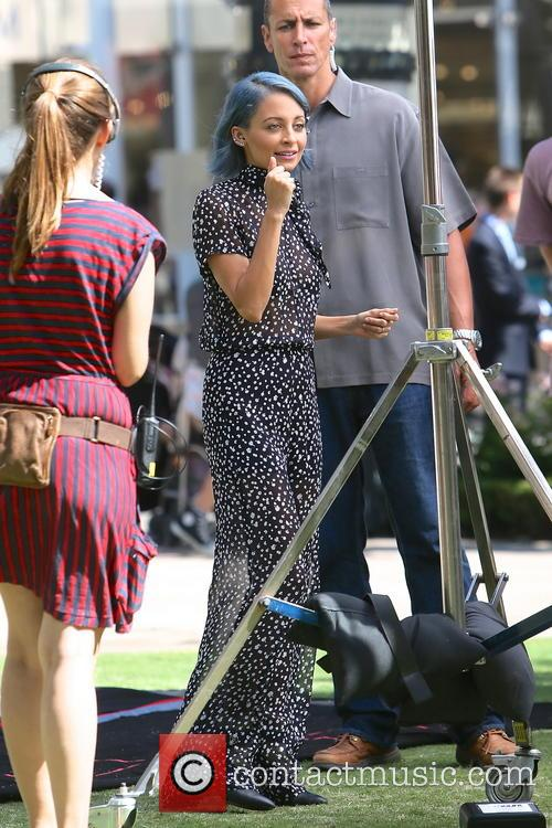 Nicole Richie seen filming scenes from her new...
