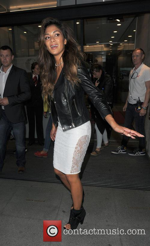 Nicole Scherzinger leaves the Radio 1 studios at BBC Broadcasting House