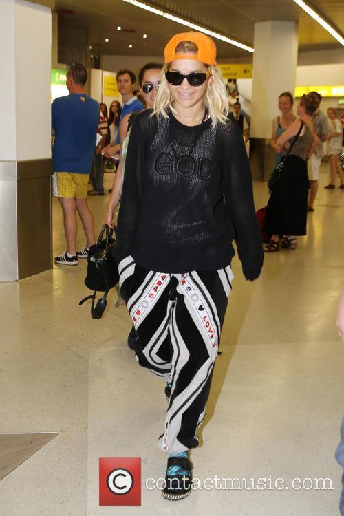 Rita Ora arriving at Tegel airport