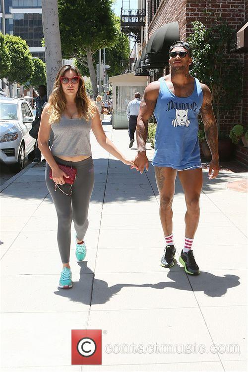 Kelly Brook and David Mcintosh out and about...