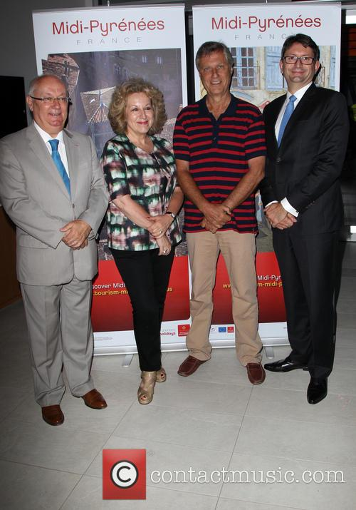 Philippe Guérin, Juliet Blake, Lasse Hallström and Axel Cruau Consul General Of France