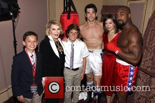 Ben Moody, Joan Rivers, Cooper Endicott, Andy Karl, Margo Seibert and Terence Archie 2