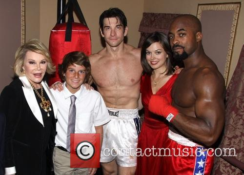 Joan Rivers, Cooper Endicott, Andy Karl, Margo Seibert and Terence Archie 4