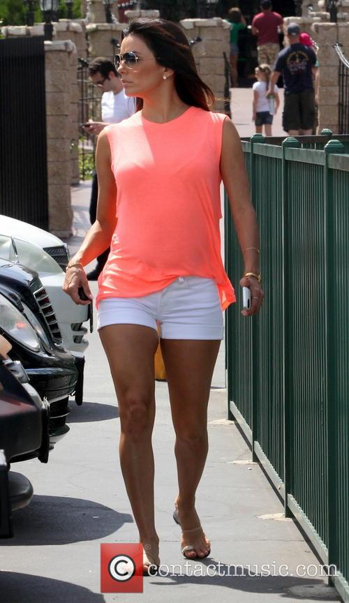 Eva Longoria leaves a hair salon