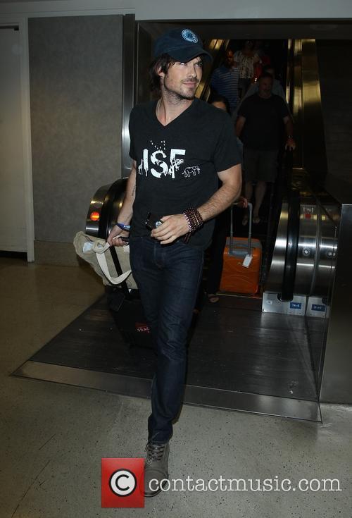 Ian Somerhalder at LAX