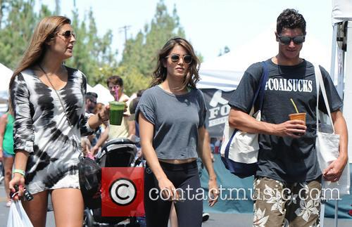 Nikki Reed at the Farmers Market with friends