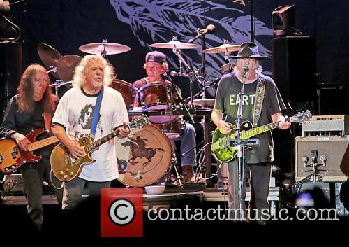 Neil Young performs live
