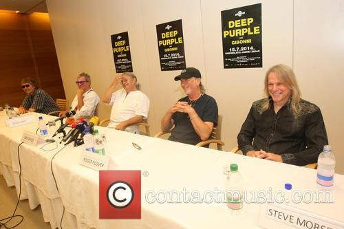 Don Airey, Ian Paice, Roger Glover, Steve Morse and Deep Purple 4
