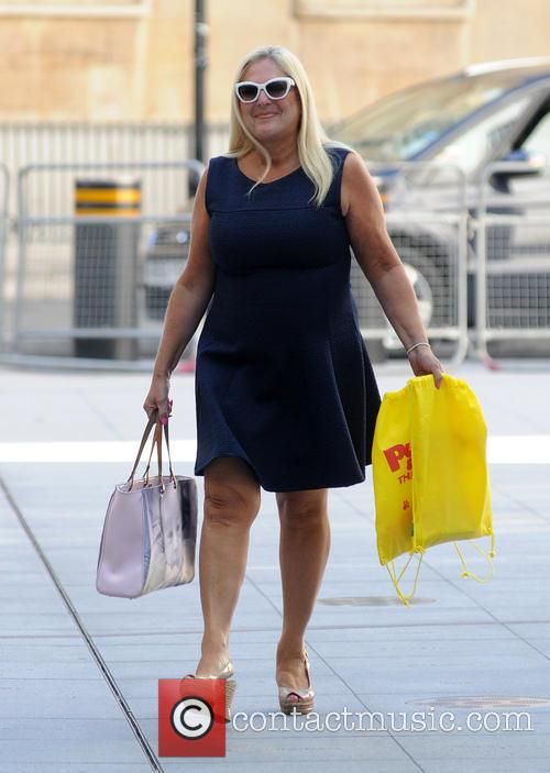 Vanessa Feltz arrives at the BBC