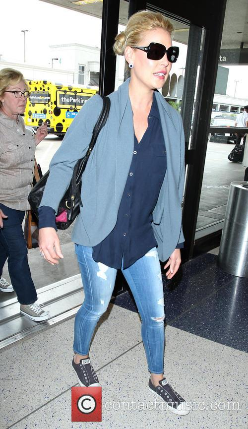 Katherine Heigl arrives at Los Angeles International (LAX)...