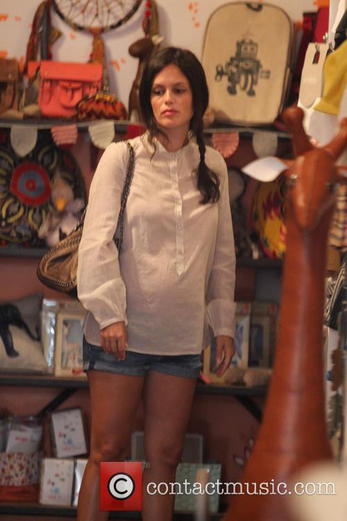 Pregnant Rachel Bilson goes shopping for baby clothes...