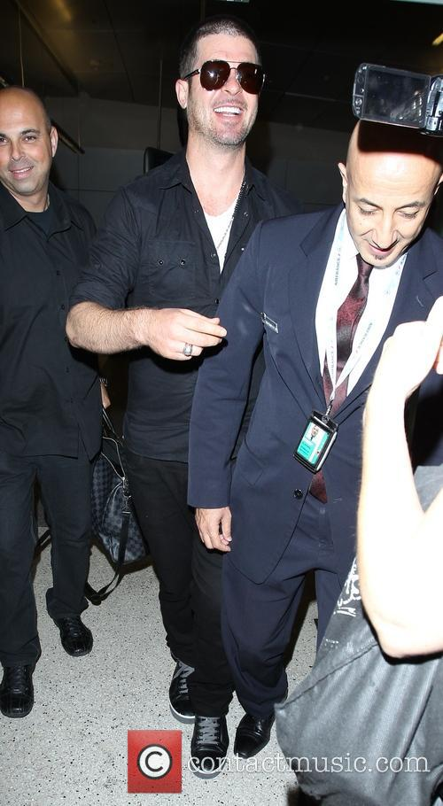 robin thicke robin thicke arrives at los 4285153