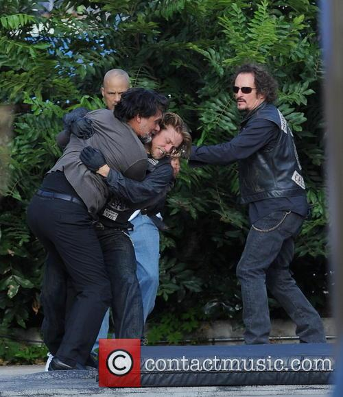 Charlie Hunnam, Jimmy Smits and Kim Coates 2