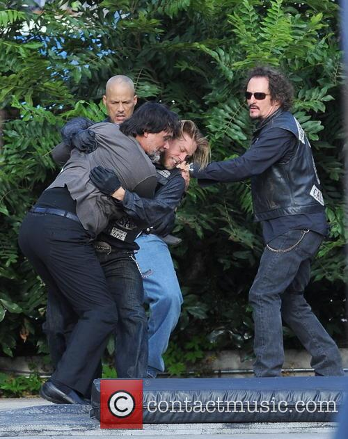 Charlie Hunnam, Jimmy Smits and Kim Coates 1