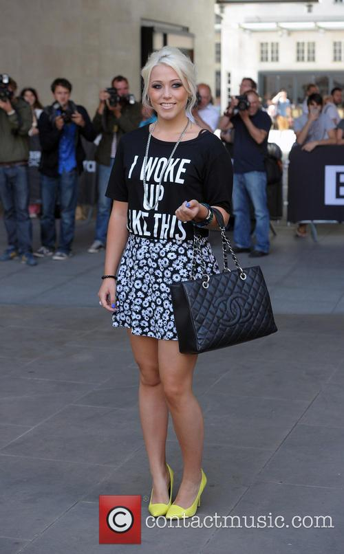 Amelia Lily leaving the Radio 1 Studios