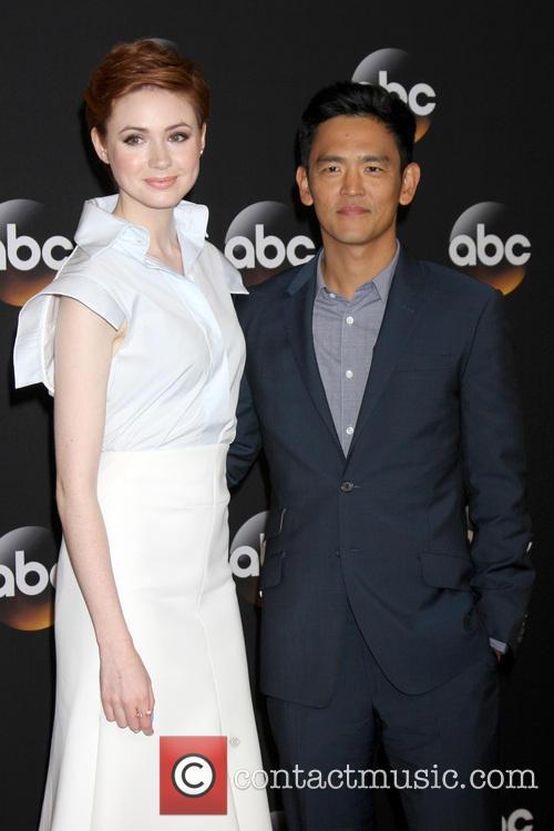 Karen Gillan and John Cho 2