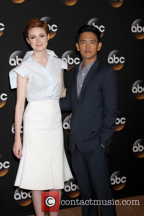 Karen Gillan and John Cho 6