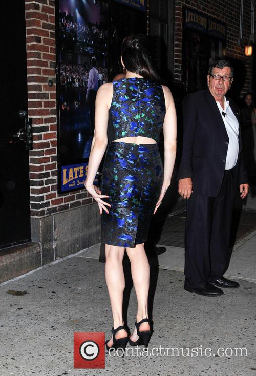 Liv Tyler visits the Late Show