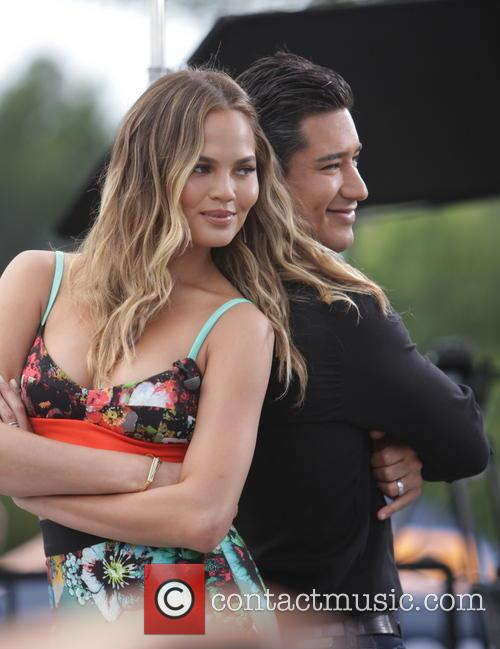 Chrissy Teigen and Mario Lopez 11