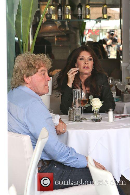 Lisa Vanderpump has lunch at  Villa Blanca