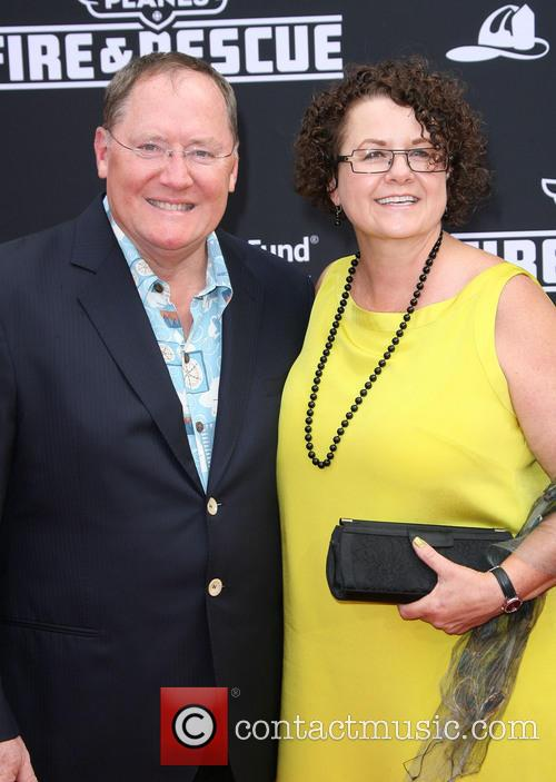 John Lasseter and His Wife Nancy Lasseter 3