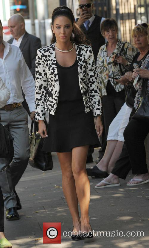Tulisa Contostavlos arriving at Southwark Crown Court