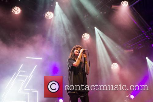 Chvrches performing live at Somerset House in London