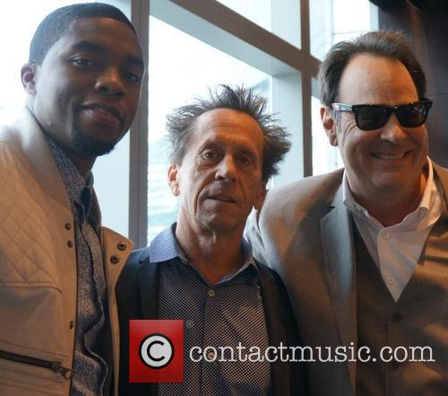 Chadwick Boseman, Brian Grazer and Dan Aykroyd 1