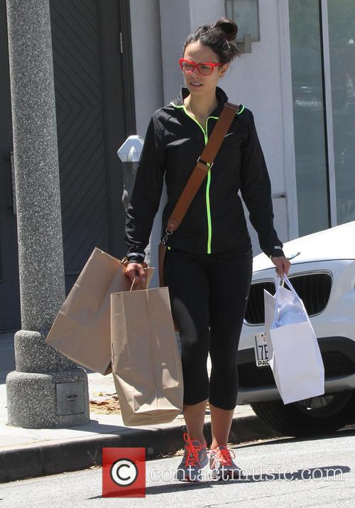 Jordana Brewster shops in Los Angeles