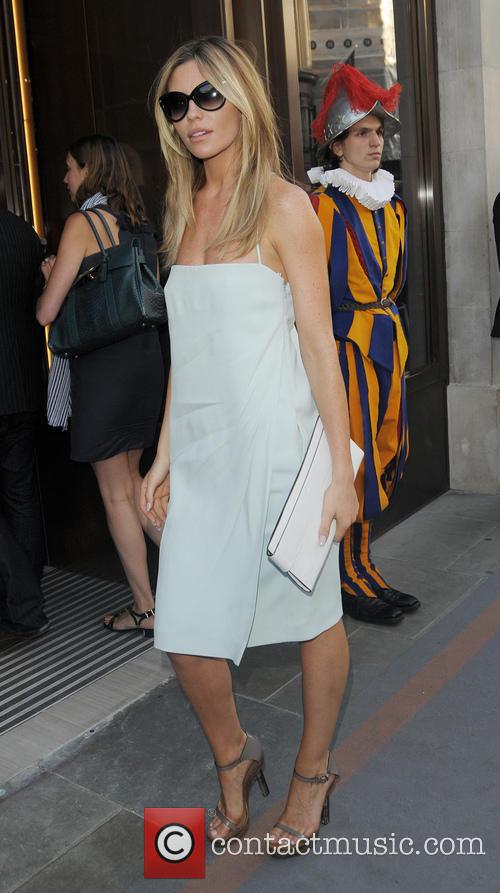 Abbey Clancy arriving at the Watches of Switzerland