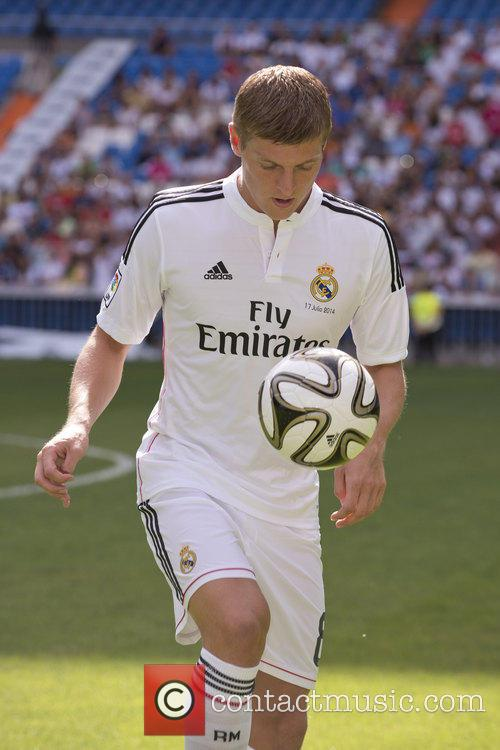 Real Madrid's new signing German midfielder Toni Kroos...
