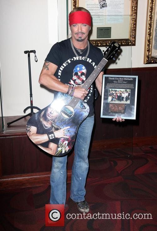 Bret Michaels guitar donation at Hard Rock Cafe
