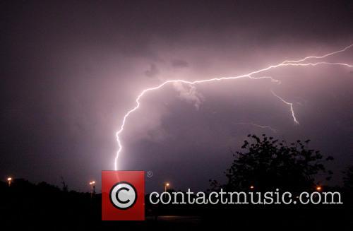 Lightning strikes at Leigh-on-Sea