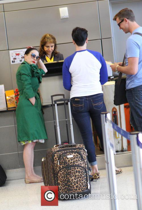 Dita Von Teese arrives at Los Angeles International...