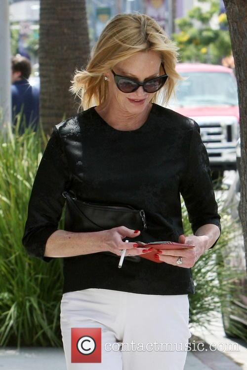 Melanie Griffith shops in Beverly Hills