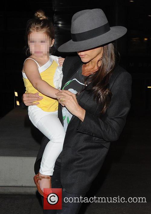 Victoria Beckham and Harper Beckham 3